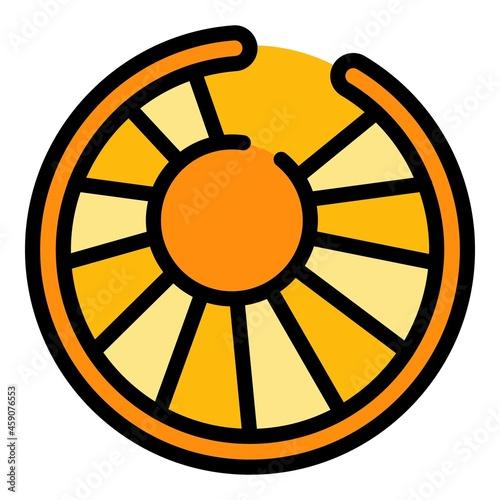Obraz na płótnie Tower circular staircase icon
