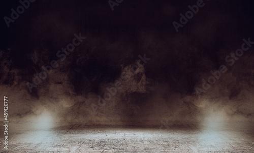 Canvas Print Halloween background dark and smoke