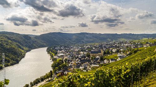 Fotografiet Ballade au bord de la Moselle