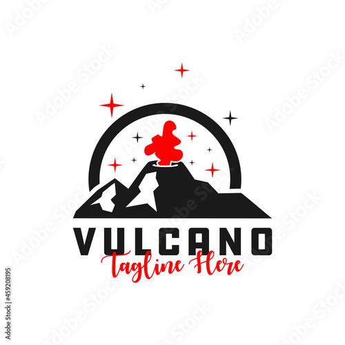 Tablou Canvas erupting volcano inspiration illustration logo design