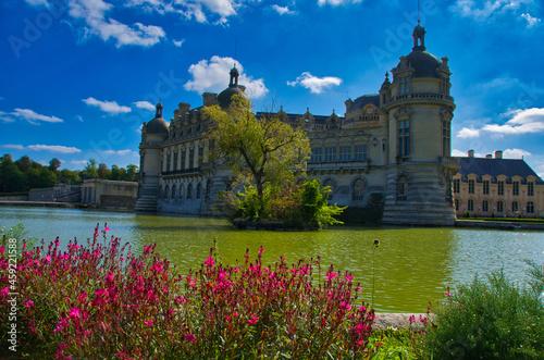 Photo Chateau und Park von Chantilly im Val D'Oise in Frankreich