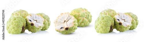 Fotografie, Obraz custard apple or sugar apple fruit on white background