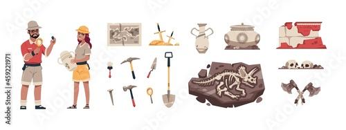 Fotografiet Cartoon paleontology