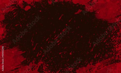 Zakrwawione czarne tło.