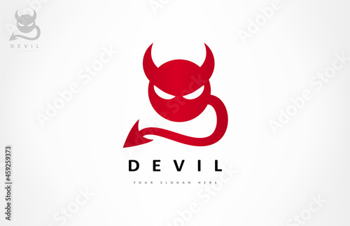 Fotografiet Devil with horns and tail design