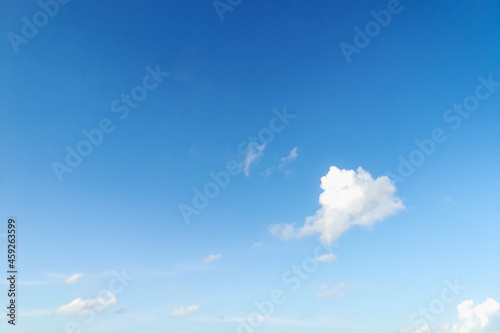 Beautiful sky with white a soft clouds make you feel freedom and see the good weather in the morning of a new day Fototapet
