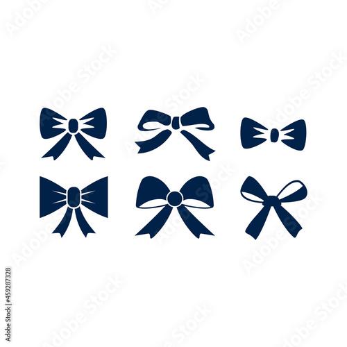Fotografia Bow ribbon icon logo template isolated on white background.