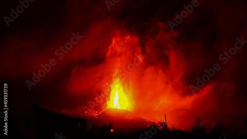 Obraz na plátně La Palma volcano eruption. Canary Islands