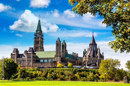 Billede på lærred Canadian Parliament in Ottawa