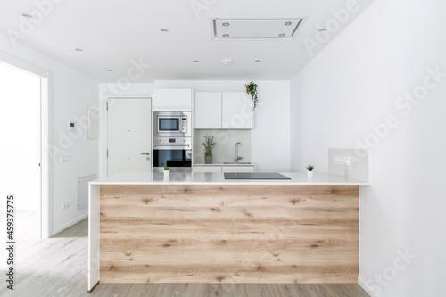 Fototapeta Cocina de obra nueva y diseño arquietectura