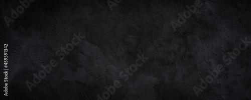 Slika na platnu Black or dark gray rough grainy stone texture background