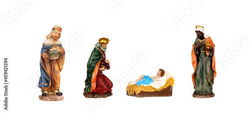 Vászonkép The three Magi and Jesus Christ