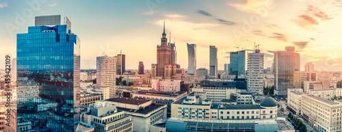 Fotografie, Obraz Warsaw, Poland panorama