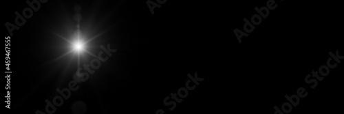 Fotografiet The star shines over the manger of christmas of Jesus Christ.