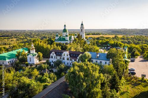 Vászonkép Aerial view to Saviour-Transfiguration Mhar Monastery, Ukraine