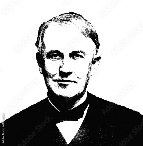 Foto Thomas Edison  was an American inventor and businessman who has been described as America's greatest inventor