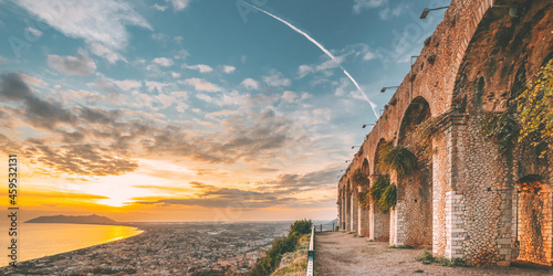 Terracina, Italy. Remains Of Temple Of Jupiter Anxur Fototapet