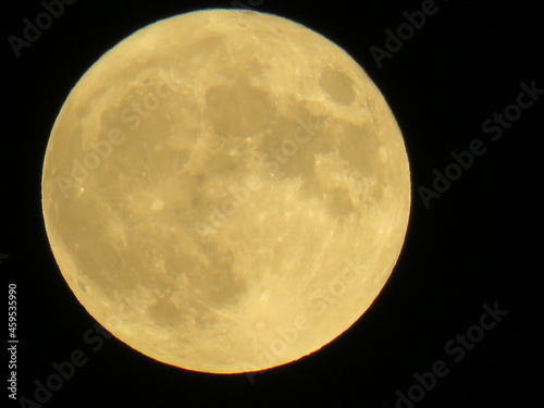 Canvastavla full moon over black