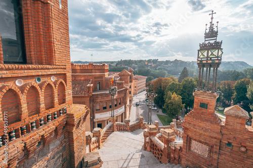 Fotografie, Obraz oval staircase of teruel mudejar city in aragon, Spain
