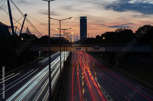 Fotografie, Obraz Light Trails a Monaco di Baviera