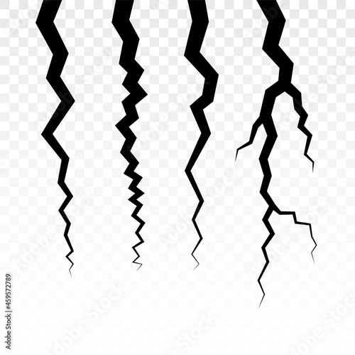 Crack vector wall line effect Fototapet