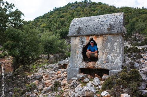 Fotografie, Obraz Hiking Lycian way