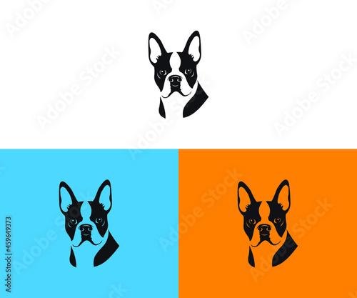 Fotografiet Dog head icon. Cartoon dog face