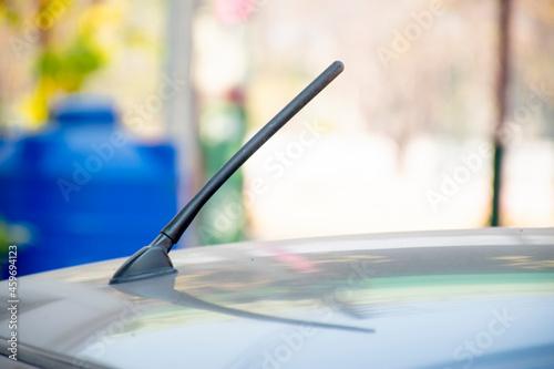 car radio antenna in the morninig Fototapet