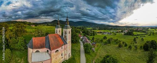 Canvas Church of Mother of the Good World ( Metere Dobrego Sveta in Konstanjevica na Krki, Slovenia