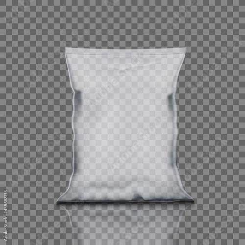 Fototapeta Transparent Chips Package Bag For Chips Or Snacks