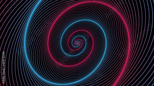 Billede på lærred Hypnotic spiral