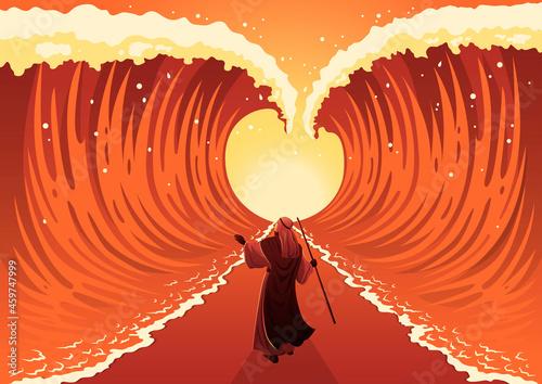 Obraz na plátně Moses dividing the red sea