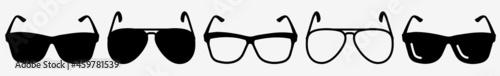 Fotografija Sunglasses Icon Aviator Sunglasses Set | Airman Sunglasses Icon Goggles Shades V