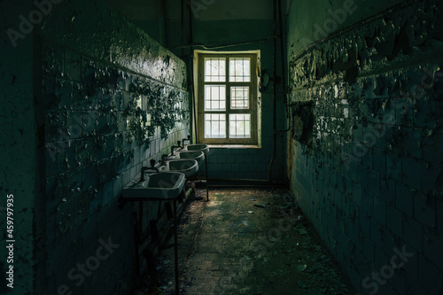 Slika na platnu Inside old Asylum for the insane