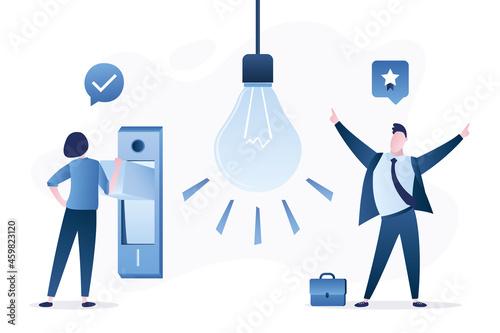 Fotografia Business teamwork and new ideas search