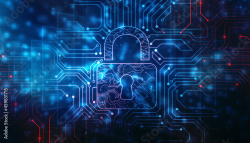 Tela Cyber Security and safety information, personal data concept