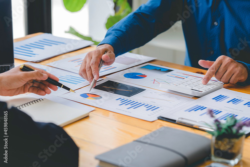 Fototapeta Business people meeting at office, teamwork process
