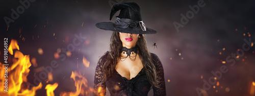 Fotografiet Halloween Witch