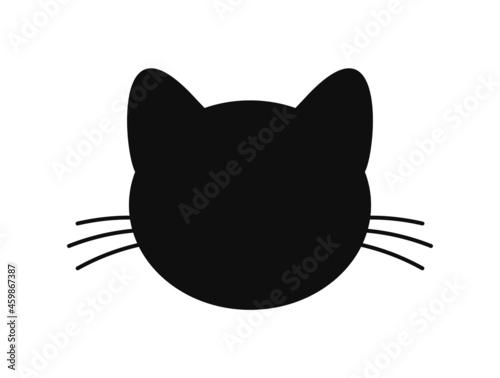 Fotografiet Black cat head shape icon.