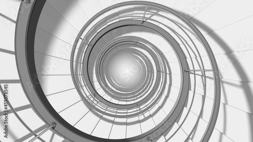 Fotografia Endless modern spiral staircase. 3D render