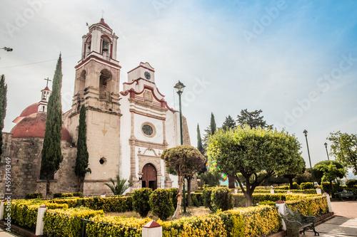 Billede på lærred Iglesia de Jiquipilco, Estado de México