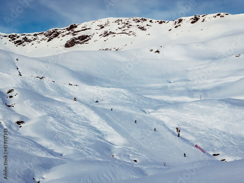 Fotografie, Obraz Pista de esquí en Pirineos, Aragón, España