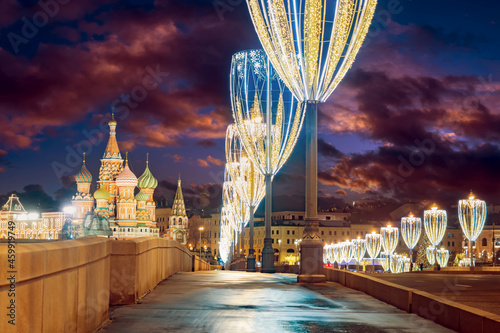 Canvas-taulu Moscow Christmas landscape