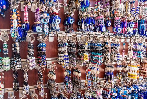 Fototapeta beads on a market stall