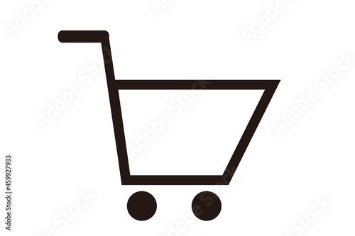 Obraz na plátne 買い物カゴのアイコン。 ショッピングのコンセプト。