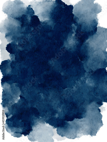 Fototapeta Watercolor blue navy nautical background. Abstract paint texture