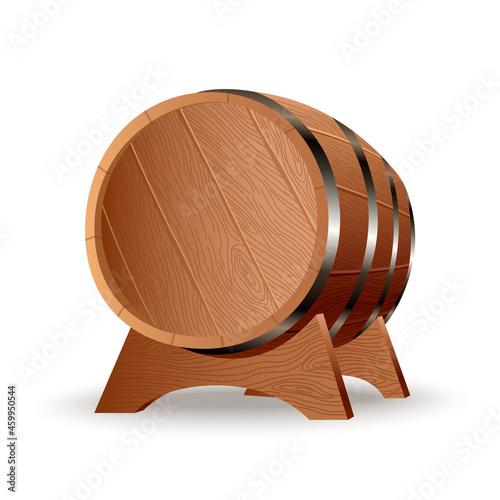Murais de parede Realistic wooden barrel
