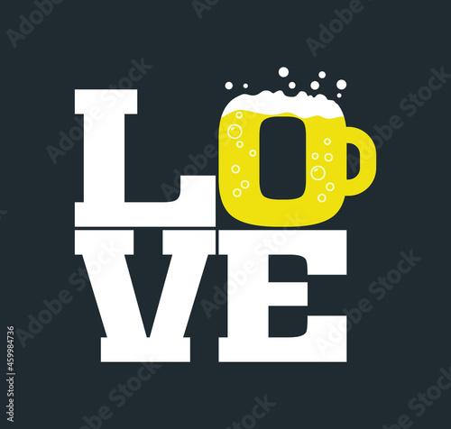 Fotografering Beer lover t-shirt design