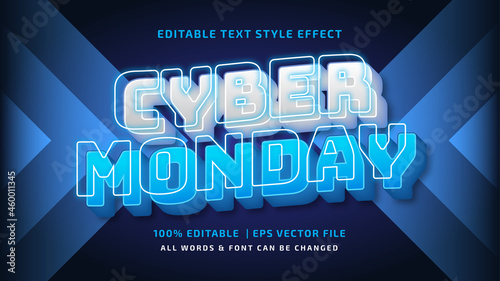 Foto Cyber Monday Futuristic 3d Text Style Effect