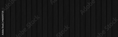 Fotografie, Obraz Panorama of Black grey wood color texture vertical for background